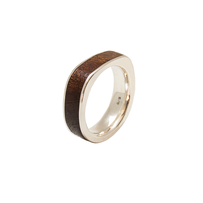 Gents Dual Band Flat Top Ring FREE Shipping Wooden Rings