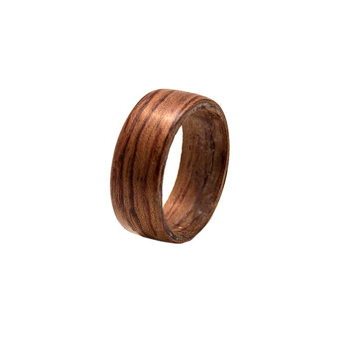 iron the woods wooden collections ring rosewood woodchuckchucked jewelry treasure rings path
