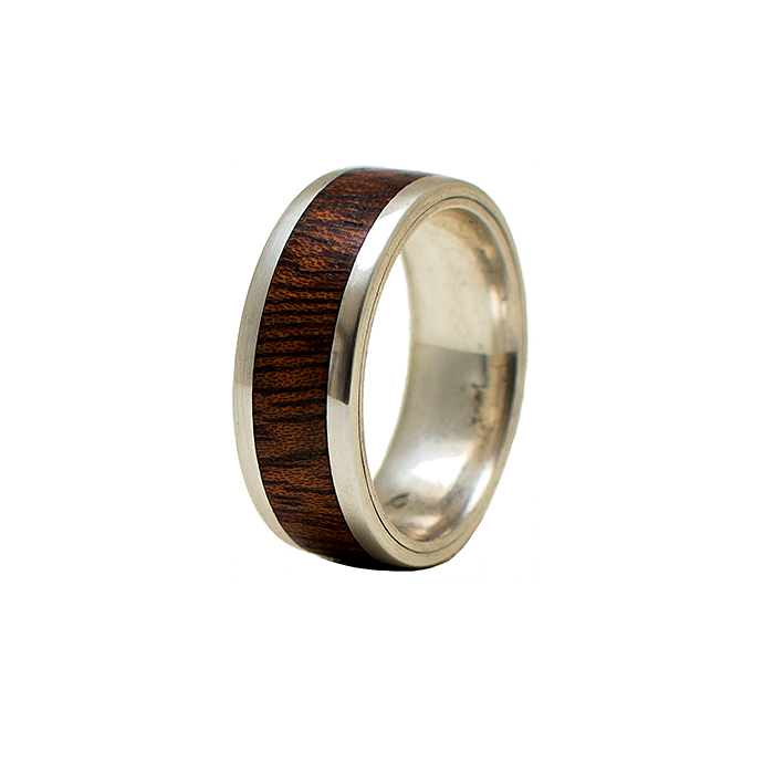 collection stainless ring designer made bamboo a rings narrow steel st wedding studio